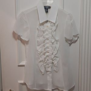 NWOT button down shirt with ruffle